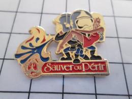 1920 Pin's Pins / Rare Et De Belle Qualité !!! THEME POMPIERS / SAUVER OU PERIR BLONDE AIMANT LES POMPIERS Oh Oh ! - Firemen