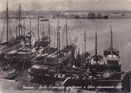 Trapani - Scalo D'ormeggio Pescherecci E Silos Rifornimento Sale - Vera Fotografia Viaggiata Anni '50 - Trapani