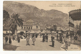 CPA ,Monaco ,N°762, Monte Carlo , Place Du Casino , Café De Paris ,Animée ,Ed  Gilletta ,1926 - Casino
