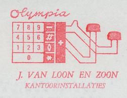 Meter Cut Netherlands 1980 Calculator - Counting Machine - Olympia - Non Classificati