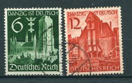 Deutsches Reich -  Mi. 714/715 (o) - Usados