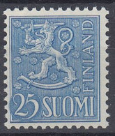 +M877. Finland 1954. New Lion-Type 25 M. Michel 432. MNH(**) - Neufs