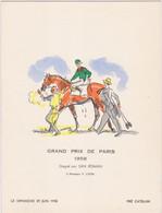 Grand Prix De Paris Gagné Par San Roman - Menus