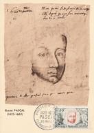 CARTE MAXIMUM 1962 BLAISE PASCAL - 1960-69