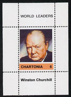Chartonia (Fantasy) World Leaders - Winston Churchill Perf Deluxe Sheet On Thin Glossy Card Unmounted Mint - Fantasy Labels