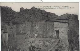 SAINT GUILHEM  LE DESERT   RUINES DE L'EGLISE SAINT LAURENT ET MONUMENT AUX MORTS - Zonder Classificatie
