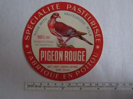 Bistrot & Alimentation > Etiquette > Fromage Fabriqué En Poitou Pigeon Rouge Dangé Vienne 86 - Kaas