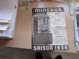 Minerva A Antonovich Wien Saison 1936 - Publicités