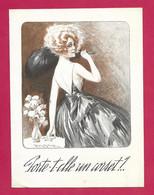 PUBLICITE Corset Ceinture LE SELECT - Lithographie Illustrée Par M. MILLIERE, Jeune Fille En ROBE De SOIREE - Publicités