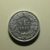 Switzerland 1/2 Franc 1942 Silver - Switzerland
