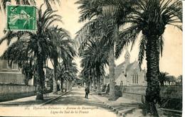 CPA -  HYERES-LES-PALMIERS  - AVENUE DE BEAUREGARD - Hyeres
