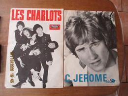 LOT DE 2 AFFICHES LES CHARLOTS DISQUES VOGUE ET C.JEROME DISC AZ  49cm/35cm - Affiches