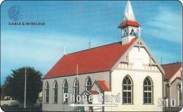 Falkland Phonecard Church Kirche - Islas Malvinas