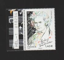 FRANCE / 2020 / Y&T N° 5436 ** : Ludwig Van Beethoven X 1 BdF G + N° De Feuille & De Presse - Francia