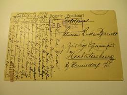 BELGIUM MOMIGNIES VISITE DE LA DOUANE 1917 MILITARY FIELDPOST , OLD POSTCARD  0 - Momignies