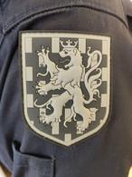 écusson Plastique Légion Gendarmerie Franche Comté Obsolete Pour Collectionneur - Basse Visibilité - Noir Et Gris - Police & Gendarmerie