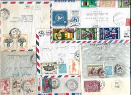 Cambodge Un Lot De 7 Lettres - Cambodge