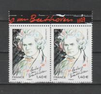 FRANCE / 2020 / Y&T N° 5436 ** : Ludwig Van Beethoven X 2 En Paire Tous BdF Haut - Francia