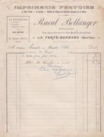 LA FERTE BERNARD BELLANGER IMPRIMERIE FERTOISE 14 MACHINES ANNEE 1912 - Francia