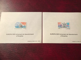 EDL Andorre,2 Europa 1992 - Unused Stamps