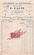 LA FERTE BERNARD H GAGNE EPICERIE PRIMEUR CAFE VINS LIQUEURS DEPOT D ESSENCE SHELL CACHET VINS NICOLAS ANNEE 1940 - Francia