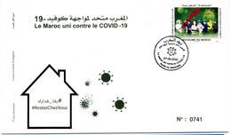 Maroc Y&T N° à Venir FDC Covid 19 - Marokko (1956-...)
