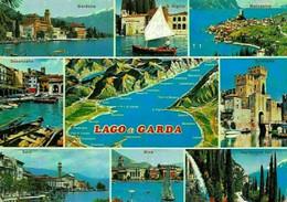 Italy Lago Di Garda Desenzano Gardone Riva Sirmione Malcesine Postcard - Other