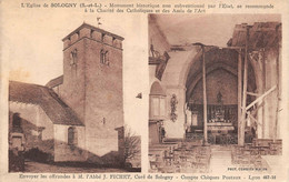 Sologny La Croix Blanche Canton Mâcon église éd Combier - Other Municipalities