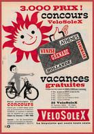 Concours Vélosolex. La Bicyclette Qui Roule Toute Seule. Vacances Gratuites. 1966. - Publicités