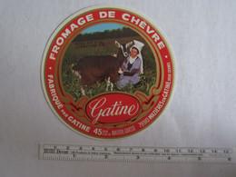 Bistrot & Alimentation > Etiquette > Fromage Chèvre Gatine 79 Mazières En Gatine Deux Sèvres - Kaas