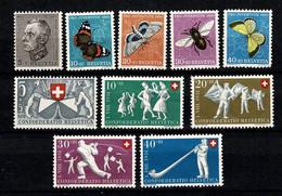 Helvetia  1950  Yv. 502/06, 507/11, Mi 550/54, 555/59, Nieuw Zonder Gom / Neuf Sans Gomme - Nuevos