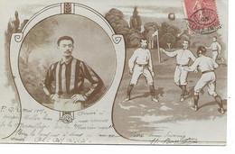 ROUEN ? FOOTBALL ?  Carte Signée BOULANGER Envoyée à Rouen à L'occasion D'un Match International - Rouen