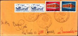 22690)  ITALIA LETTERA FDC CON  ANNULLO SPECIALE IX MOSTRA FILAT. ISTITUZIONI EUROPEE MOGLIANO 1-12-1969 - 6. 1946-.. Republic