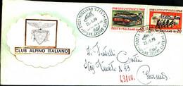 22695)  ITALIA LETTERA FDC CLUB ALPINO ITALIANO ANNULLO XX ANN. GRUPPO ALPINI MOGLIANO 25-5-1969 - 6. 1946-.. Republic