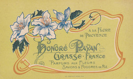 """CARTE PARFUMEE  """"HONORE PAYAN"""" - GRASSE - FRANCE - Oud (tot 1960)"""