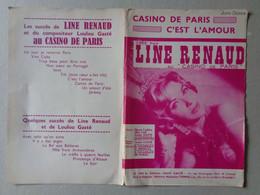 Partition Musicale – Casino De Paris/C'est L'amour (Line Renaud)---Editions Louis Gasté, 1960 - Scores & Partitions