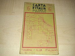 Carta D'Italia, Italy Map, Maps, Tourist Map, Milano, Touring Club Italiano, Foglio, 1:500000 - Cartes Géographiques