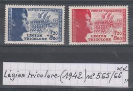 France Légion Tricolore (1942) Y/T N° 565/566 Neufs ** à 10% De La Cote - Unused Stamps