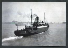 """Carte-photo Moderne - Le Paquebot """"Autocarrier"""" Au Départ Du Port De St Peter Guernesey -> Aurigny (Alderney) Vers 1946 - Passagiersschepen"""