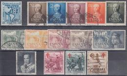 ESPAÑA 1951 Nº 1091/1105 AÑO COMPLETO USADO SIN VIAJE A CANARIAS 15 SELLOS (TODOS LOS SELLOS SON BIEN CENTRADOS) - Full Years