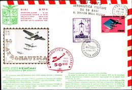 22711) ITALIA-FDC 50 ANN. AEREONAUTICA MILITARE  28-3-1973-FOGL. ERINNOFILO - 6. 1946-.. Republic