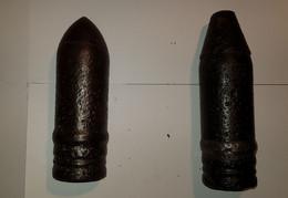 WW1 - Lot De Deux Tête D'obus - Guerre 14-18 - 1914-18