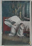 Old Postcard - Praying Children /  Travelled In Bulgaria In 1934 - Scènes & Paysages
