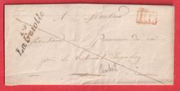 CURSIVE 14 LA GUIOLLE CANTAL + PP ROUGE INDICE 13 ESPALION 1836 - 1801-1848: Voorlopers XIX