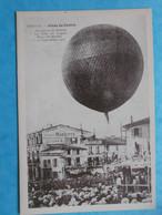 16 : COGNAC : ASCENSION Du BALLON Le 15/09/1907 ,PLACE SAINT-MARTIN , Repro , Animée , C.P.A .,en Bon état - Cognac