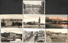 Sweden  - Lot 7 Postcards (Stockholm Halmstad Göteborg (animation Tram.. See Scans) - Suède