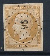 P-194: FRANCE: Lot  Avec N°13BA Obl Petits Chiffres 98, Indice 9  Apremont (7) - 1853-1860 Napoleon III