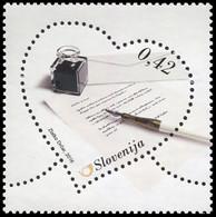 Slovenia 2016. Love Letter With Fountain Pen (MNH OG) Stamp - Slowenien
