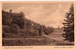 PIERRE-PERCEE (54) VALLEE De CELLES. LA TOUR Du CHATEAU Et L'EGLISE. - Altri Comuni
