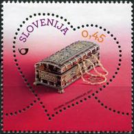 Slovenia 2017. Romantic Gift. Miniature Painted Chest (MNH OG) Stamp - Slowenien